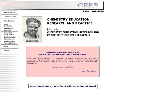 CERP (Chemistry Education: Research and Practice)